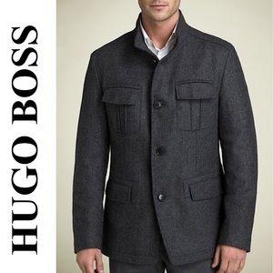 HUGO BOSS COLBERT FIELD MILITARY COAT JACKET 44 R